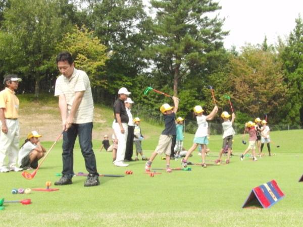 親子でゴルフ体験